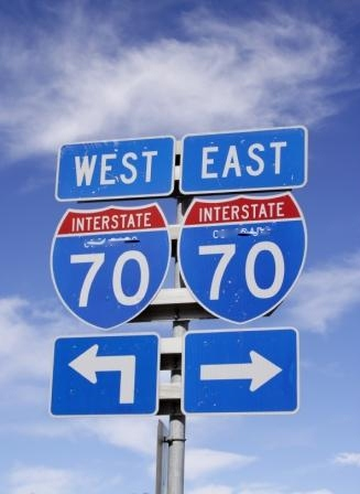 colorado interstate 70 sign